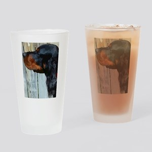 Painted Gordon Setter Drinking Glass